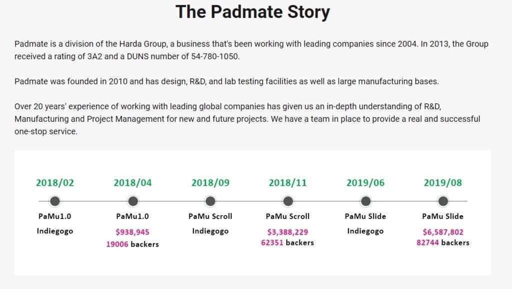 padmateという会社